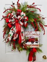 Video - Truck Wreath Bow Large Pro Bow