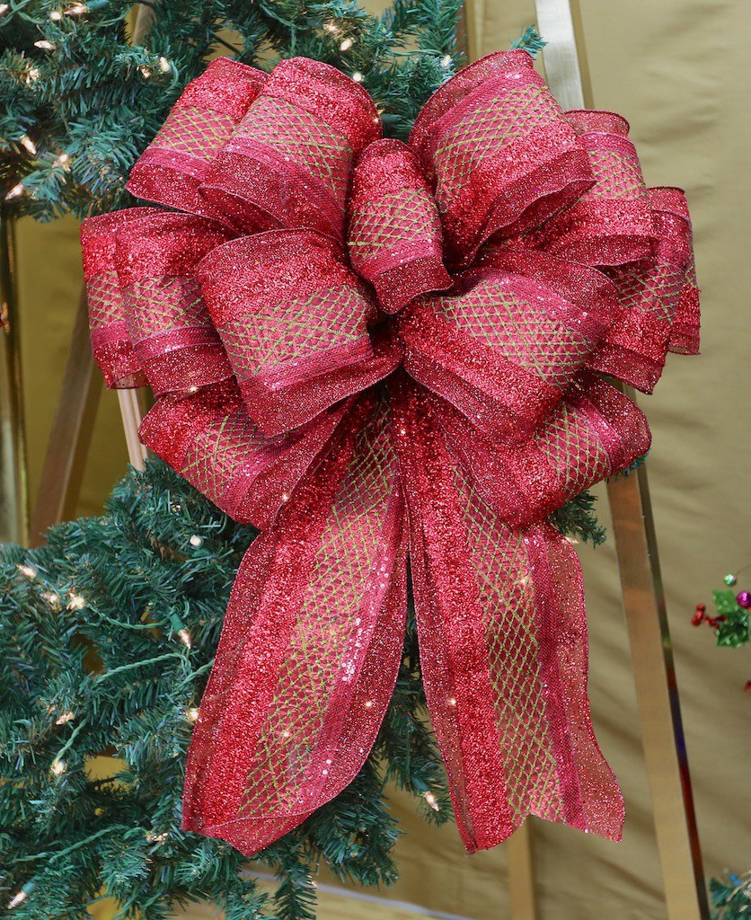 this bow made on deluxe bow maker - How To Make Christmas Bows Out Of Ribbon