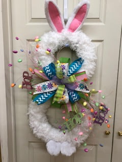 Bunny Ears and Feet Pattern For Large Grapevine & Boa Wreath Bunny