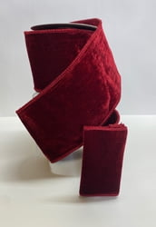 Burgundy / Burgundy Backed Velvet Ribbon